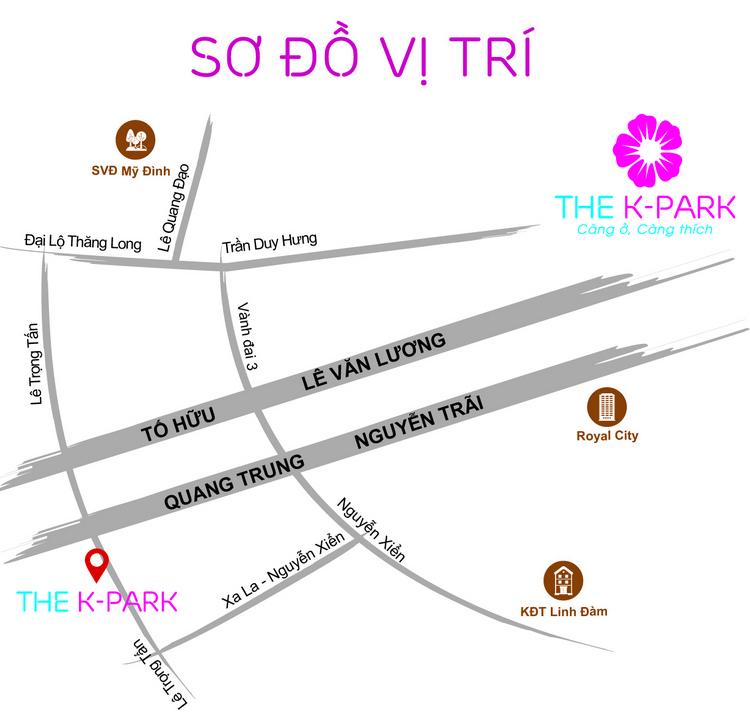 Sơ đồ vị trí chung cư The K Park Văn Phú