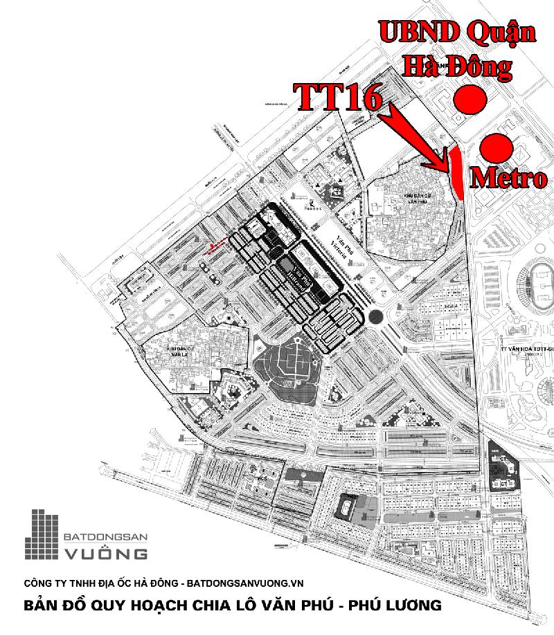 Bán Liền kề phân khu LKCVP lô TT16, mặt đường 10m, nhà hướng Tây - Nam, Khu đô thị Văn Phú, Quận Hà Đông [#H479.478]