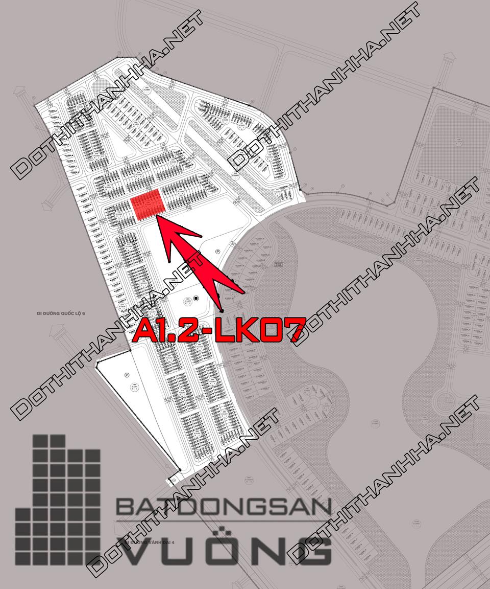 Bán Liền kề phân khu A1.2 lô LK07, mặt đường 14m, hướng nhà Tây - Nam, Khu Đô Thị Thanh Hà Cienco 5 - Mường Thanh [#H1312.1123]