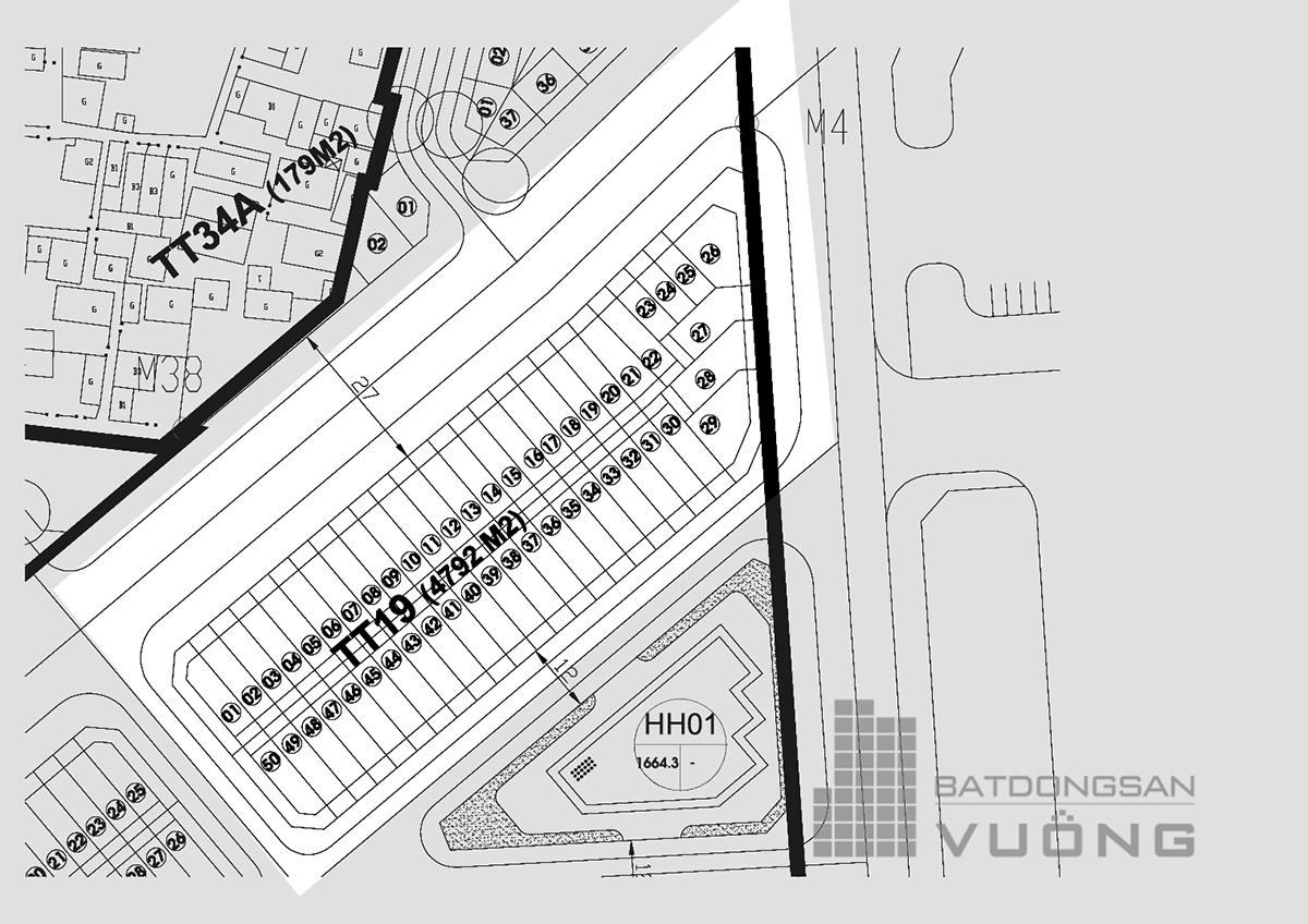 Bán Liền kề phân khu LKCVP lô TT19, mặt đường 12m, nhà hướng Đông - Nam, Khu đô thị Văn Phú [#H2341.1915]