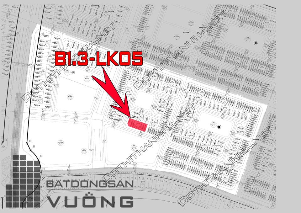 Bán Liền kề phân khu B1.3 lô LK05, mặt đường 17m, hướng nhà Tây - Nam, Khu Đô Thị Thanh Hà Cienco 5 - Mường Thanh [#H1337.1147]