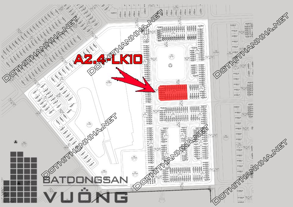Bán Liền kề phân khu A2.4 lô Lk10, mặt đường 17m, hướng nhà Nam, Khu Đô Thị Thanh Hà Cienco 5 - Mường Thanh [#H1367.1173]
