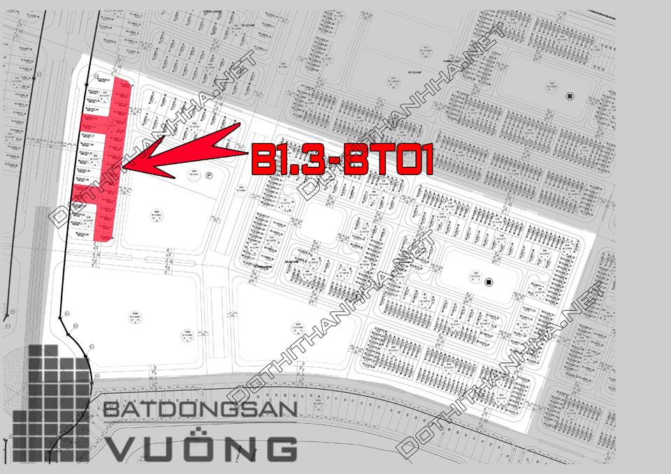 Bán Biệt thự phân khu B1.3 lô BT01, mặt đường 14m, hướng nhà Đông - Nam, Khu Đô Thị Thanh Hà Cienco 5 - Mường Thanh [#H1407.1209]