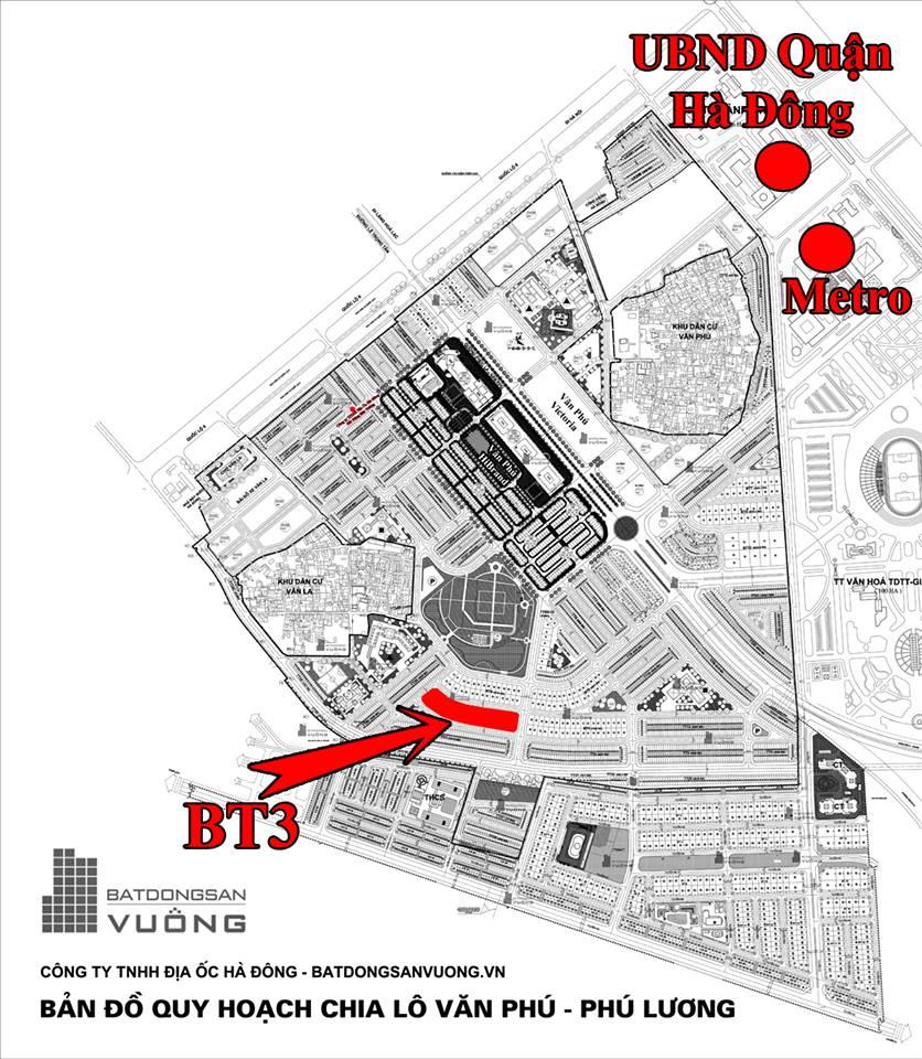 Bán Biệt thự phân khu BTVP, mặt đường 12m, nhà hướng Đông - Bắc, Khu đô thị Văn Phú [#H728.685]