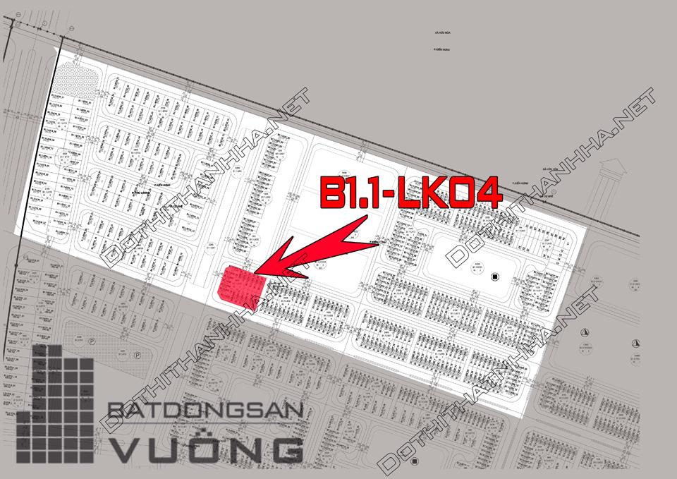 Bán Liền kề phân khu B1.1 lô LK04, mặt đường 40m, nhà hướng Tây - Bắc, Khu Đô Thị Thanh Hà Cienco 5 - Mường Thanh [#H1519.1296]