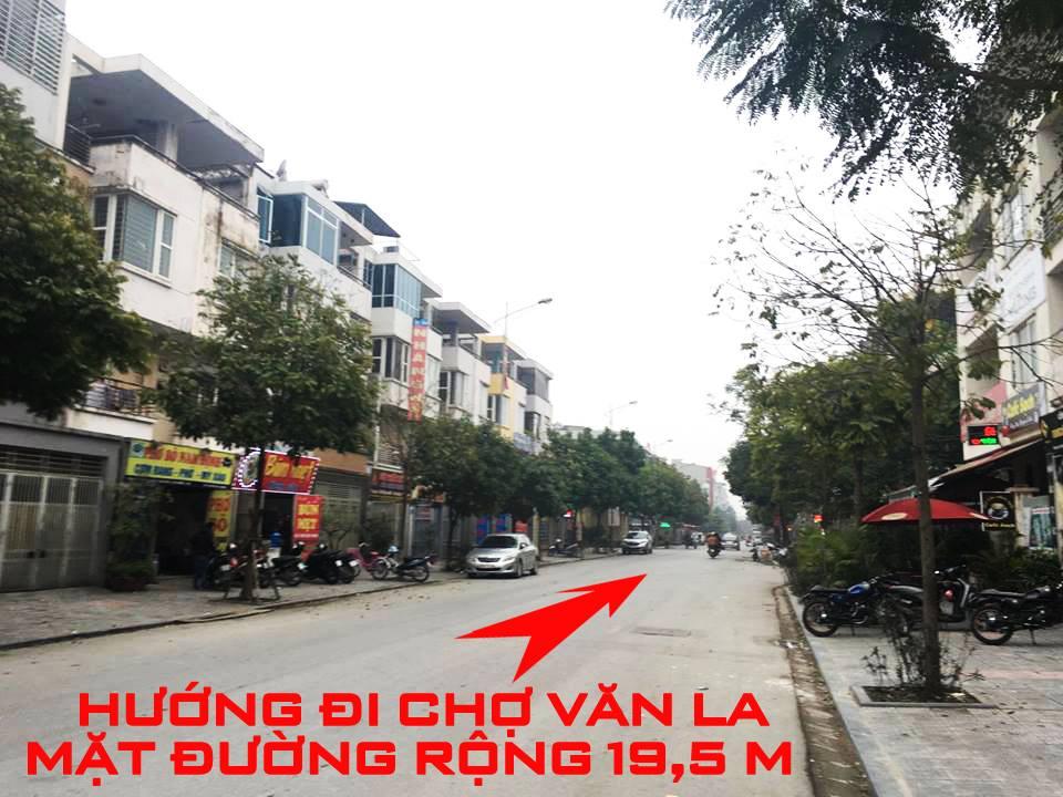 Cho thuê Liền kề phân khu LKCVP, mặt đường 19.5m, nhà hướng Tây - Bắc, Khu đô thị Văn Phú [#H2804.2105]