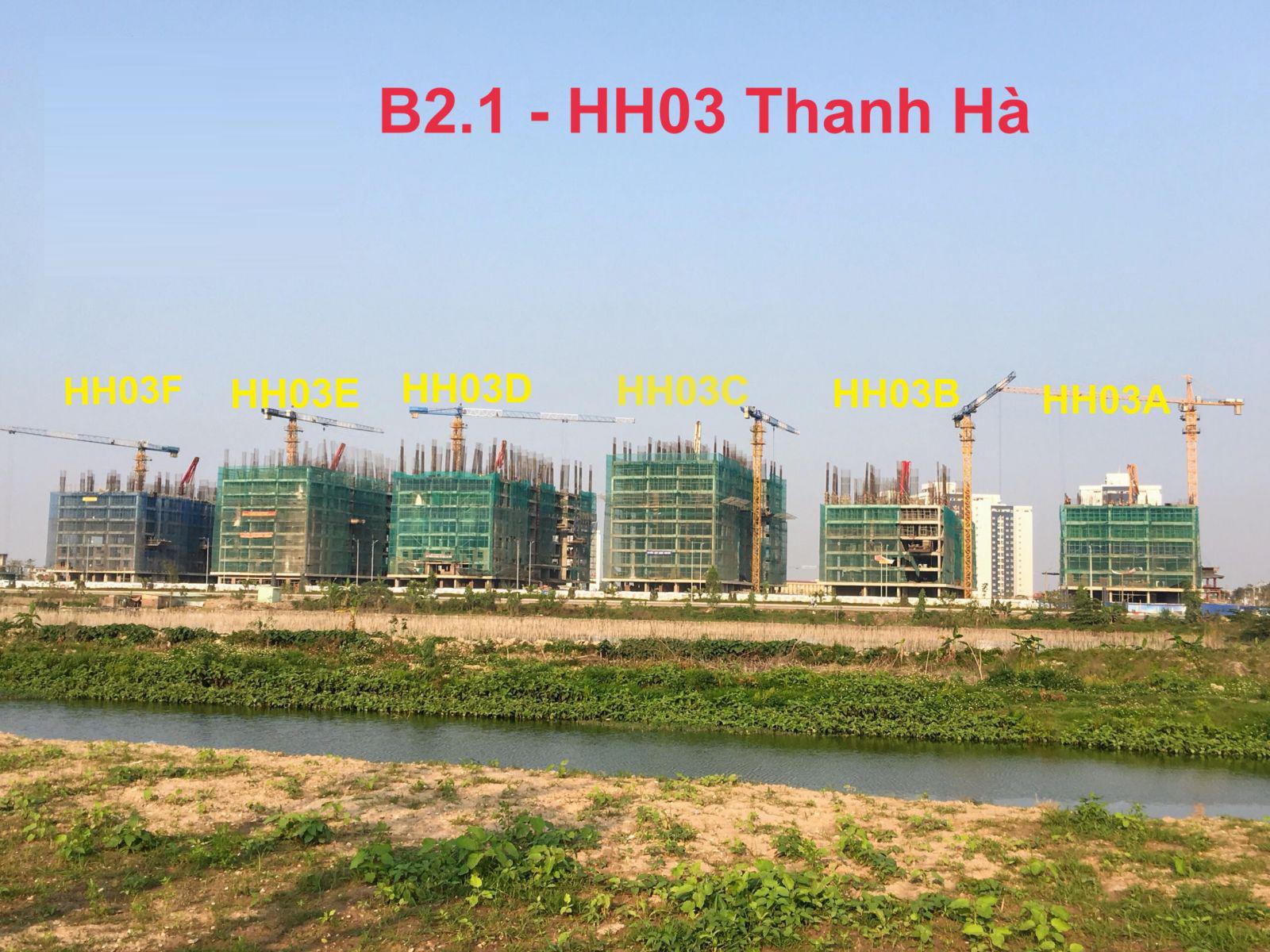 Bán Chung cư tầng 1 tòa B2.1-HH03F, cửa Nam ban công Nam, Khu Đô Thị Thanh Hà Cienco 5 - Mường Thanh [#H1699.1466]