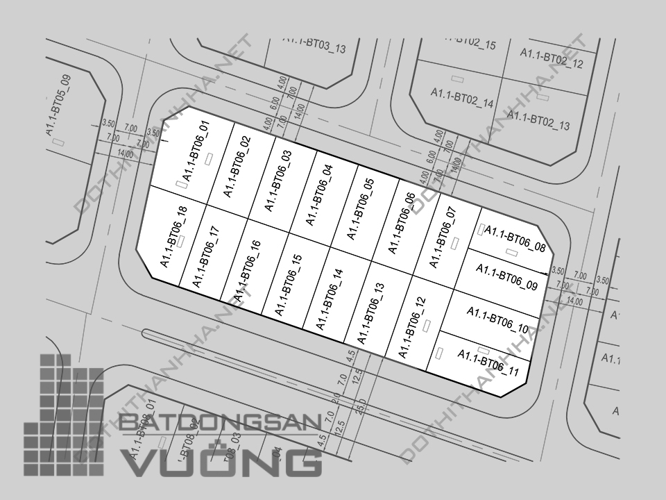Bán Biệt thự phân khu A1.1 lô BT06, mặt đường 25m, hướng nhà Tây - Nam, Khu Đô Thị Thanh Hà Cienco 5 - Mường Thanh [#H1247.1063]