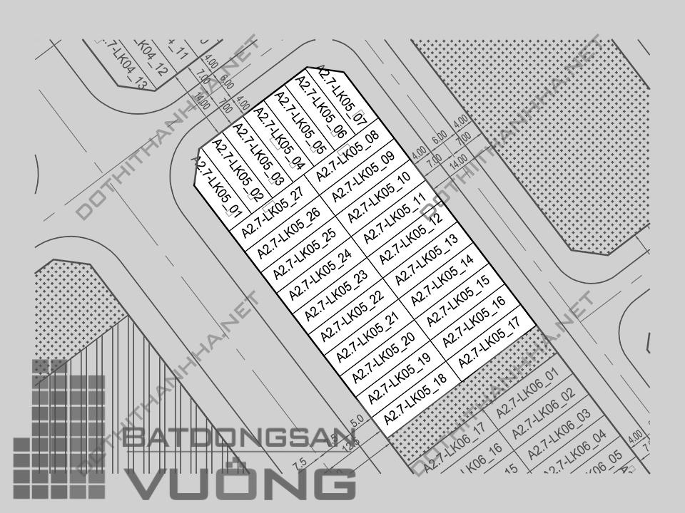 Bán Biệt thự phân khu A2.7 lô LK05, mặt đường 25m, hướng nhà Tây - Nam, Khu Đô Thị Thanh Hà Cienco 5 - Mường Thanh [#H1276.1089]