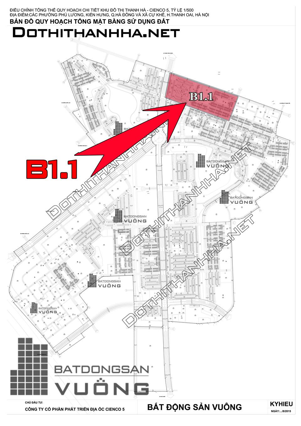 Bán Liền kề phân khu B1.1 lô LK10, mặt đường 17m, hướng nhà Đông - Bắc, Khu Đô Thị Thanh Hà Cienco 5 - Mường Thanh [#H1277.1090]