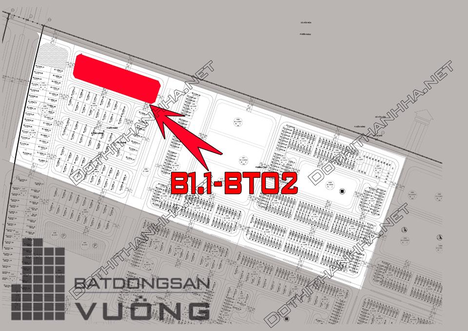 Bán Biệt thự phân khu B1.1 lô BT02, mặt đường 40m, hướng nhà Đông - Nam, Khu Đô Thị Thanh Hà Cienco 5 - Mường Thanh [#H1287.1100]