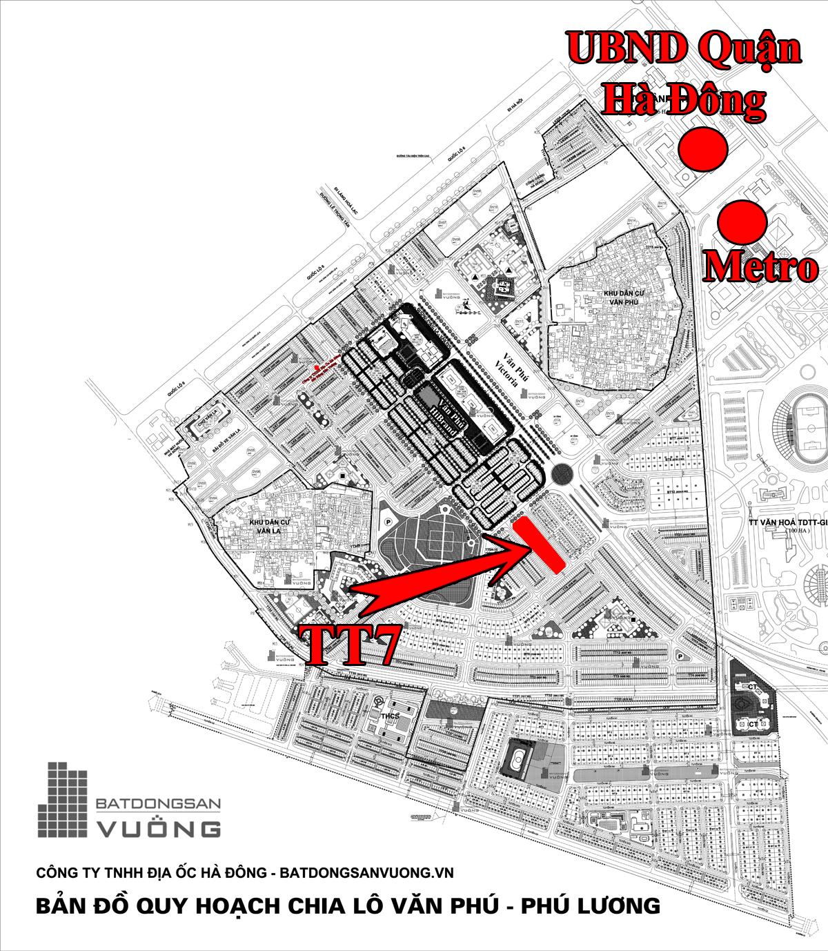 Bán Liền kề phân khu LKCVP lô TT7, mặt đường 12m, nhà hướng Tây - Nam, Khu đô thị Văn Phú [#H2284.1900]